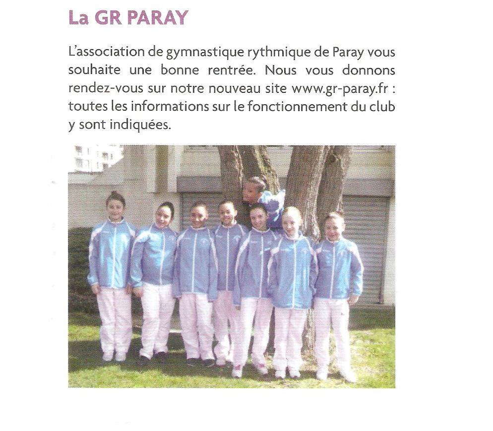 rentrée GR Paray